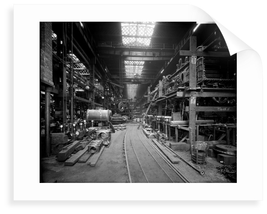Erecting Shop in the Engine Works at John Brown & Co. Ltd, Clydebank, 1901 by Bedford Lemere & Co.