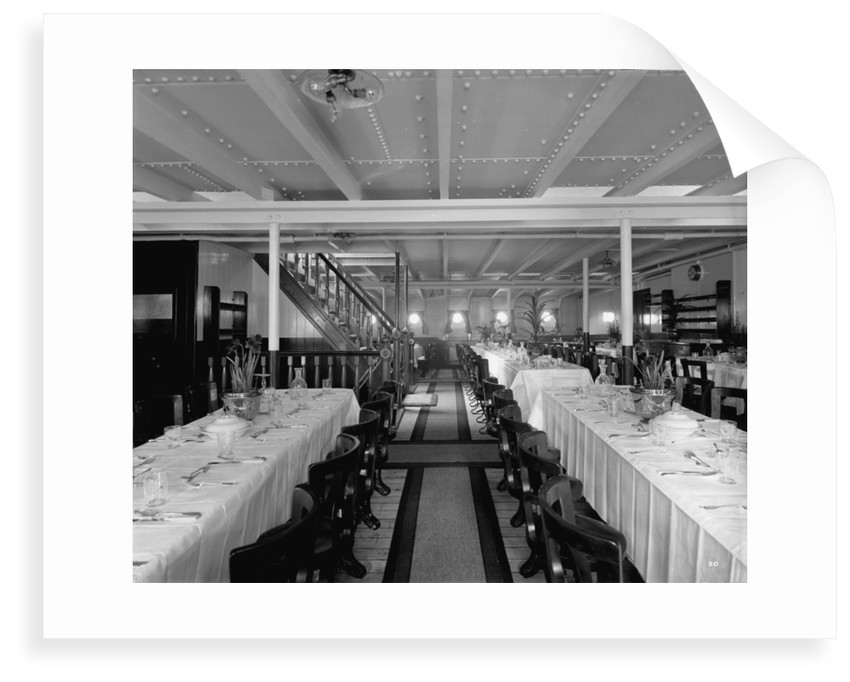 Third Class Dining Saloon on the 'Balmoral Castle' (1910) by Bedford Lemere & Co.
