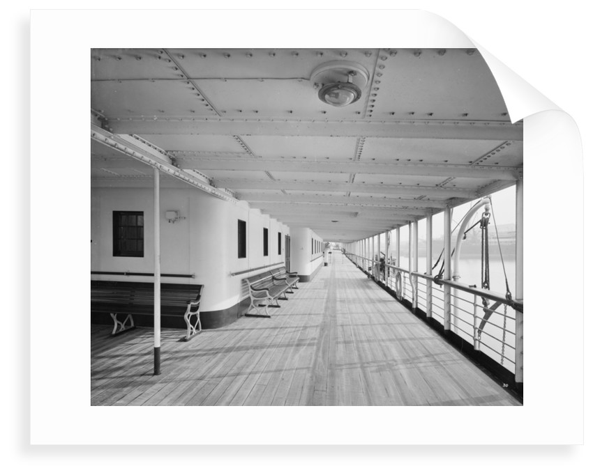 Promenade Deck on the 'Balmoral Castle' (1910) by Bedford Lemere & Co.