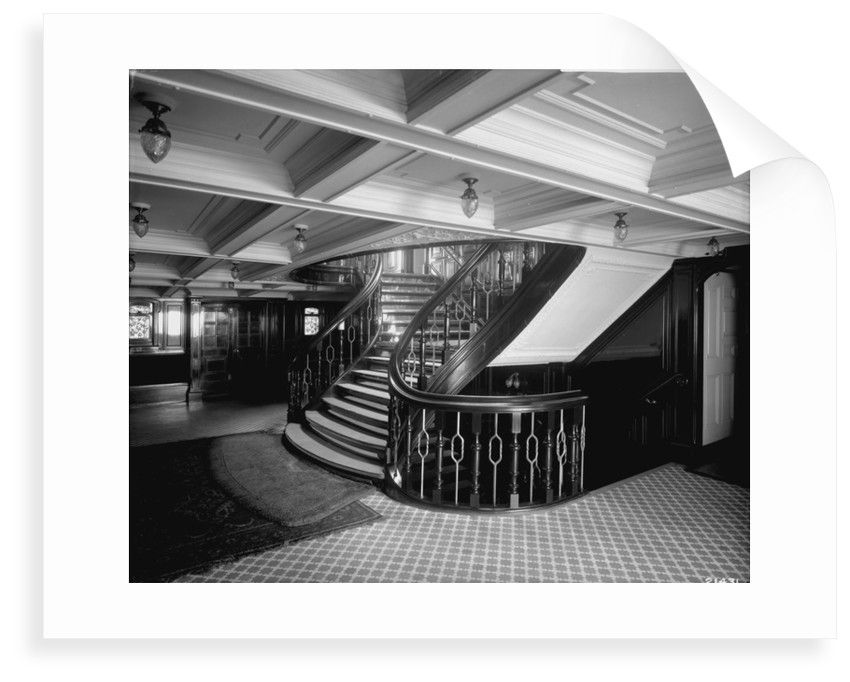 First Class Entrance on the Empress of Ireland (1906) by Bedford Lemere & Co.
