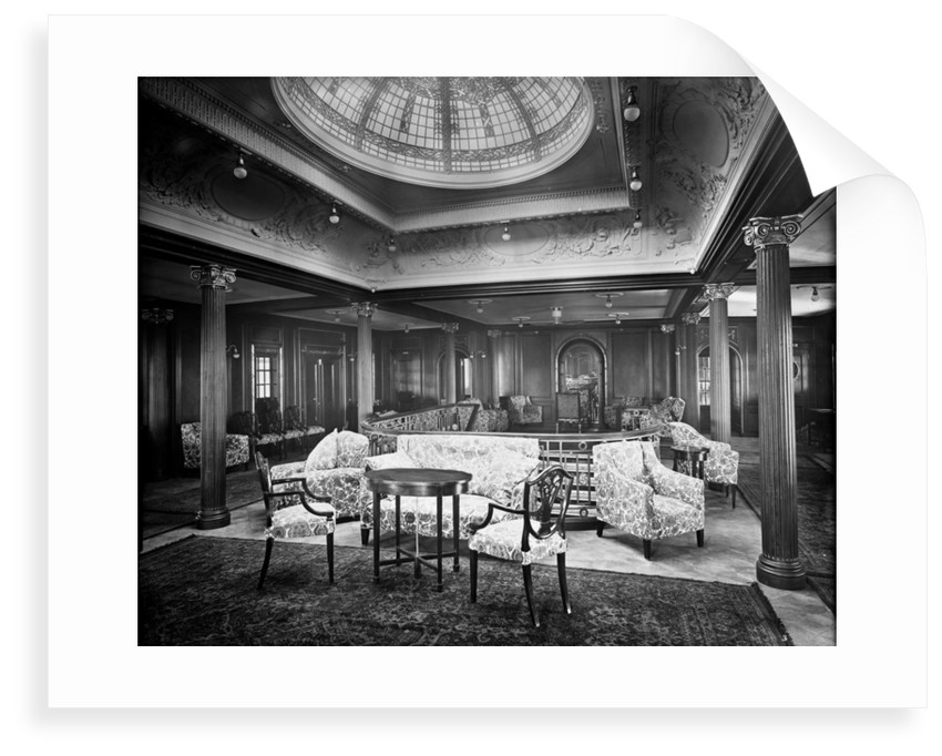 First Class Lounge on the 'Orama' (1911) by Bedford Lemere & Co.