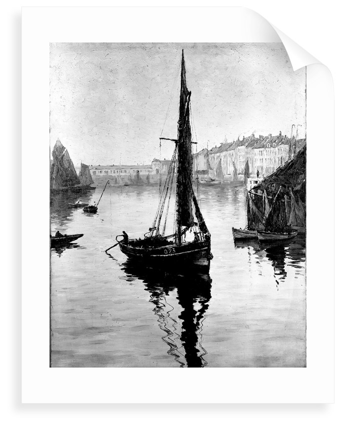 Harbour scene with fishing boats by Bedford Lemere & Co.