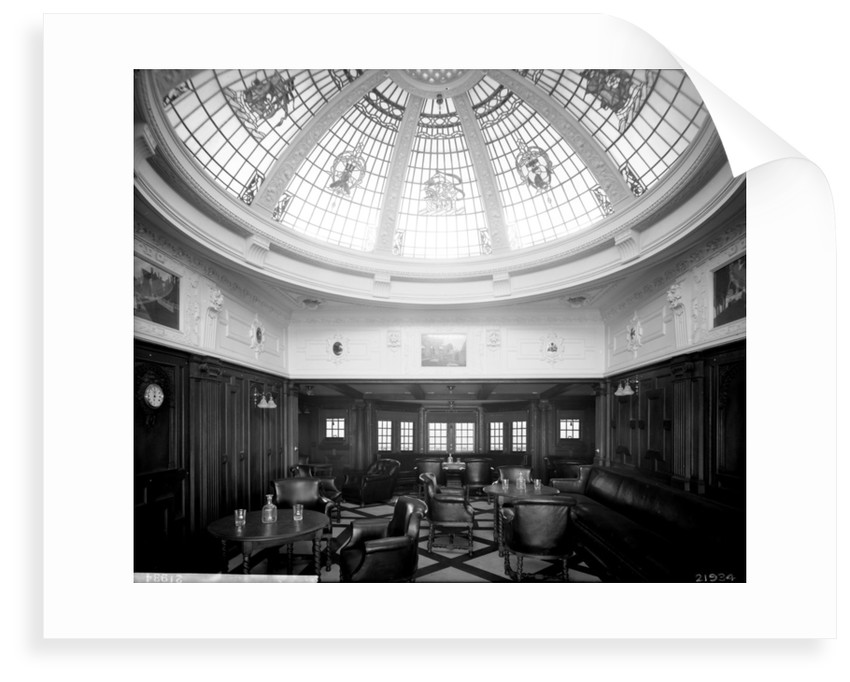 First Class Smoking Room on the 'Indarra' (1912) by Bedford Lemere & Co.