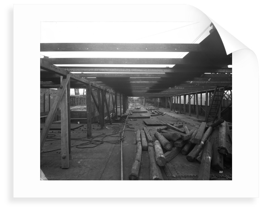 Promenade Deck of the 'Aquitania' (1914) during construction by Bedford Lemere & Co.