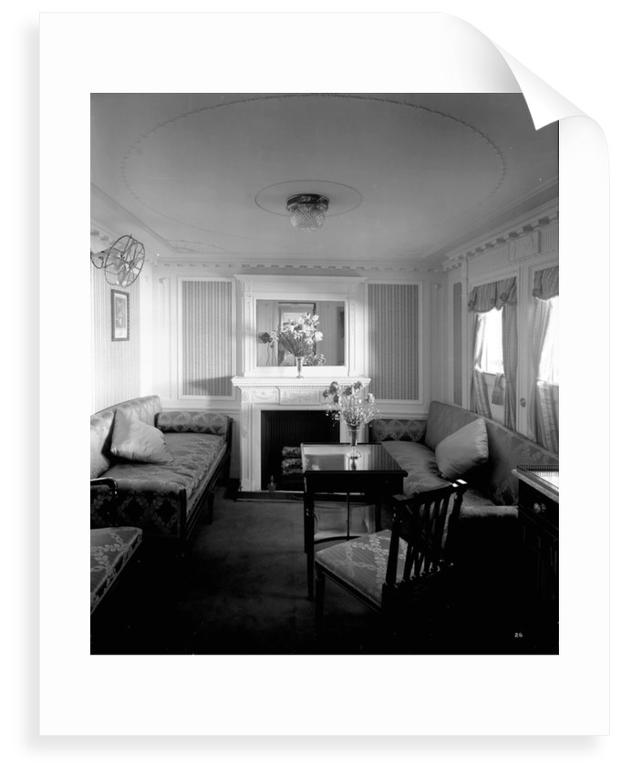 First Class suite on the 'Empress of Asia' (1913) by Bedford Lemere & Co.