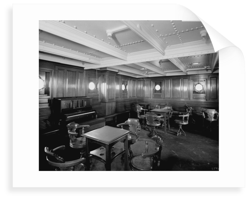 Intermediate Class General Room on the 'Orduna' (1914) by Bedford Lemere & Co.