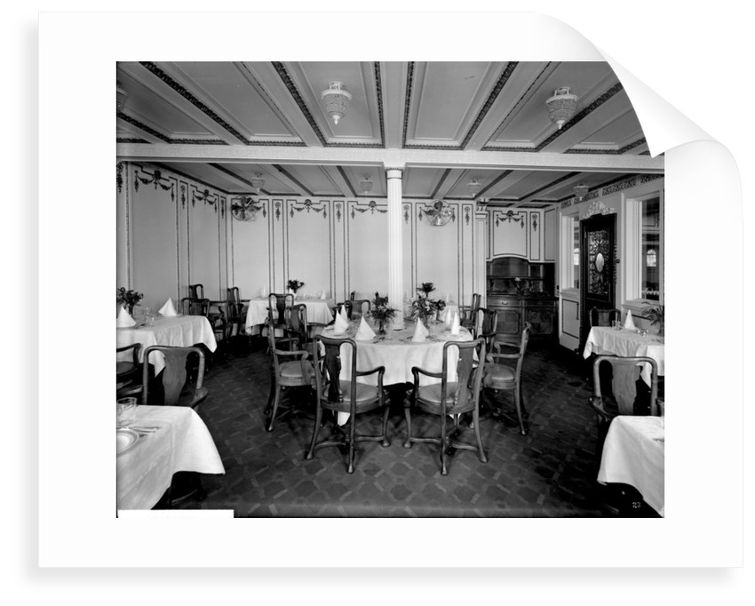 First Class Nursery Dining Saloon on the 'Orduna' (1914) by Bedford Lemere & Co.