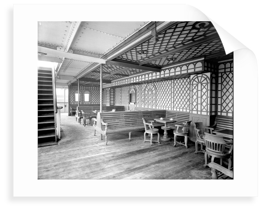 First Class Verandah on the 'Orduna' (1914) by Bedford Lemere & Co.