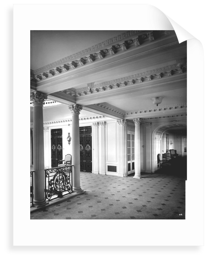 Grand Entrance on the 'Aquitania' (1914) by Bedford Lemere & Co.
