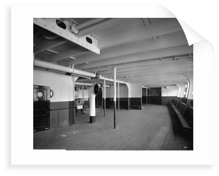 Third Class Promenade on the 'Aquitania' (1914) by Bedford Lemere & Co.