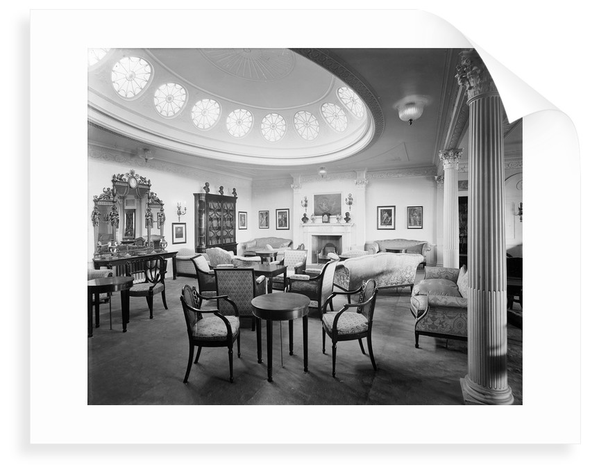 First Class Drawing Room on the 'Aquitania' (1914) by Bedford Lemere & Co.
