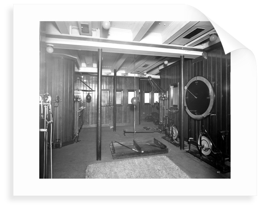 Second Class Gymnasium on the 'Aquitania' (1914) by Bedford Lemere & Co.