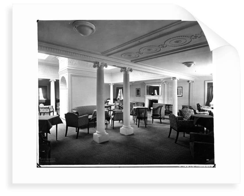 Second Class Drawing Room on the 'Aquitania' (1914) by Bedford Lemere & Co.