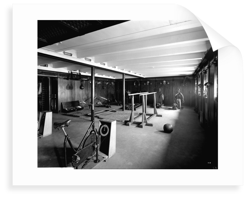 First Class Gymnasium on the 'Aquitania' (1914) by Bedford Lemere & Co.