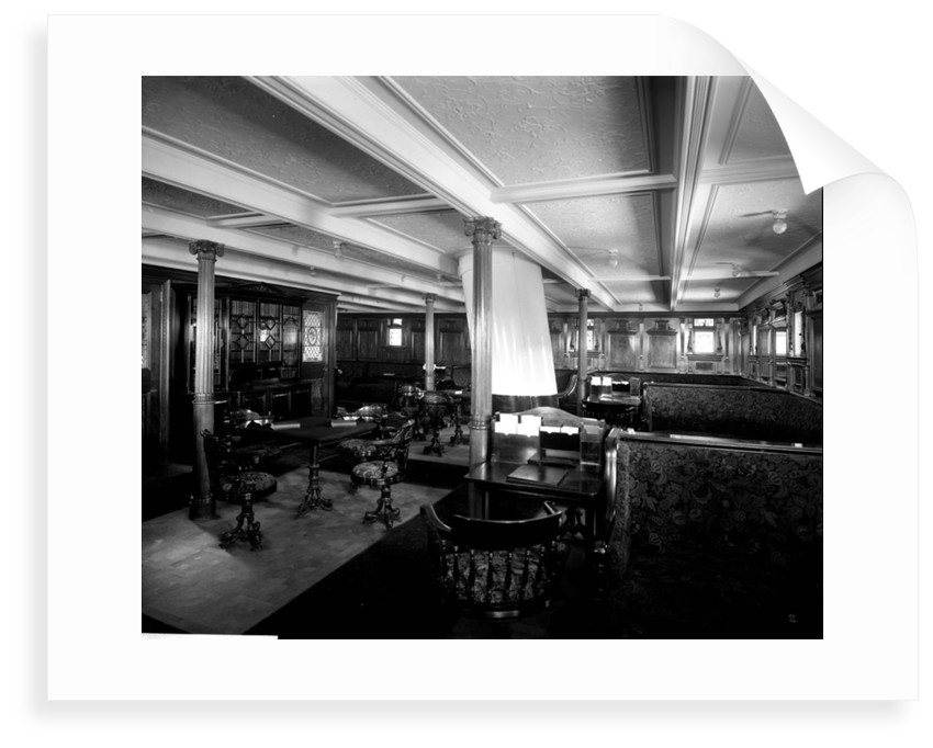 Second Class Library on the 'Adriatic' (1906) by Bedford Lemere & Co.
