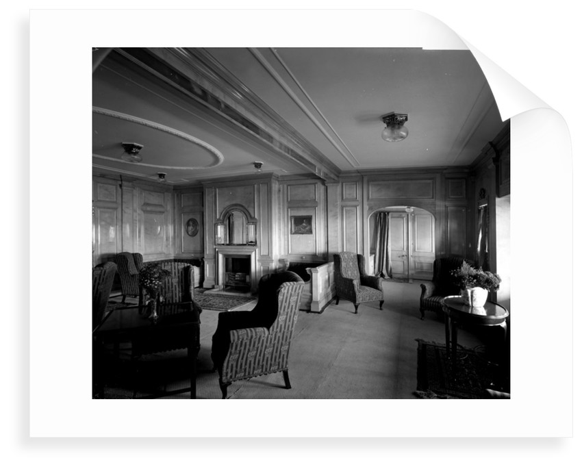 Cabin Class Drawing Room on the 'Missanabie' (1914) by Bedford Lemere & Co.