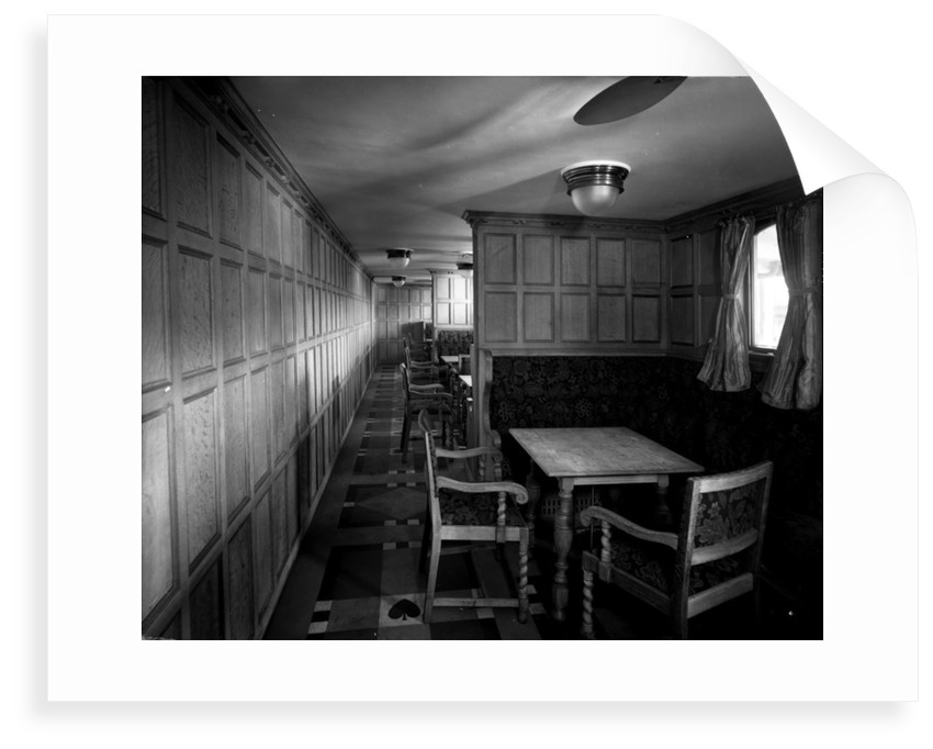 Cabin Class Card Room on the 'Missanabie' (1914) by Bedford Lemere & Co.