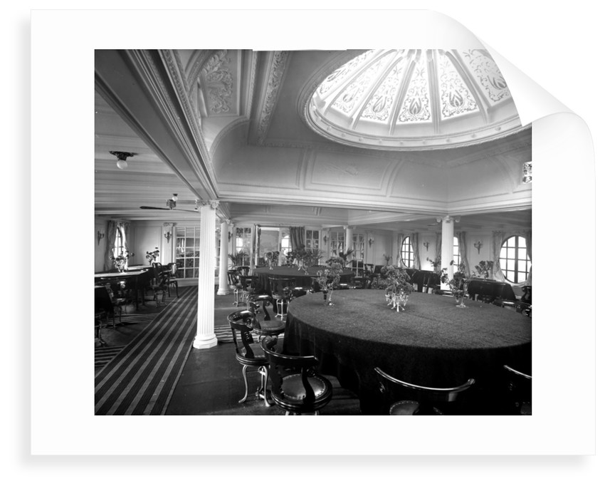First Class Dining Saloon on the 'Ciudad de Buenos Aires' (1914) by Bedford Lemere & Co.