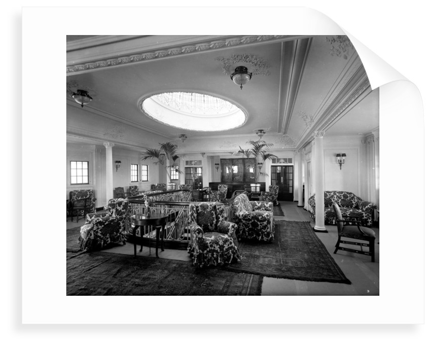 First Class Lounge on the 'Essequibo' (1914) by Bedford Lemere & Co.