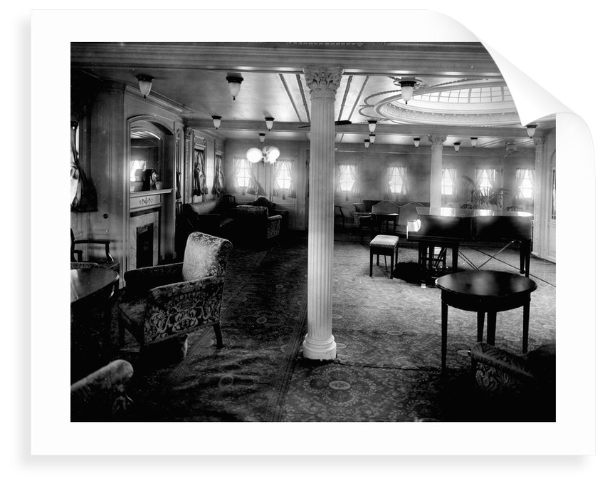 First Class Music Room on the 'Niagara' (1913) by Bedford Lemere & Co.
