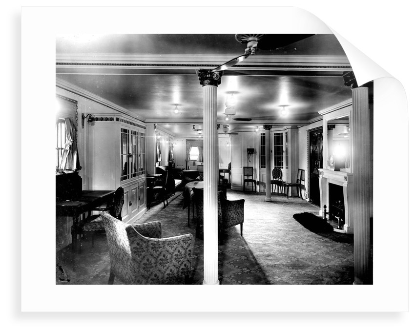 First Class Library and Writing Room on the 'Niagara' (1913) by Bedford Lemere & Co.