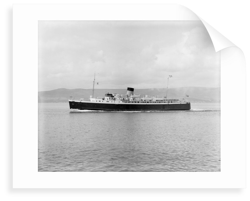 A port broadside view of 'Princess Victoria' (1939) by unknown
