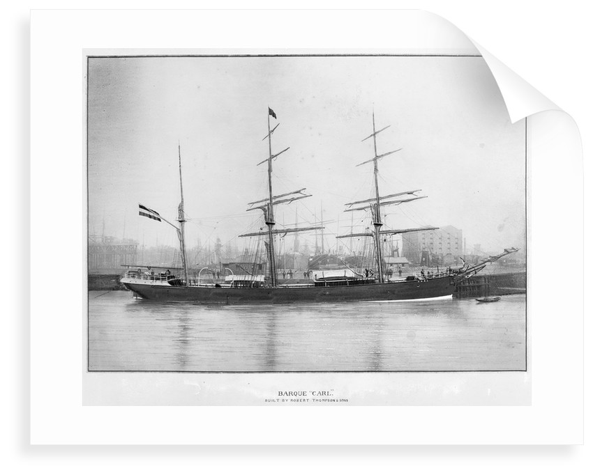 The 'Carl' (Ge, 1884) at quayside, probably Sunderland by unknown