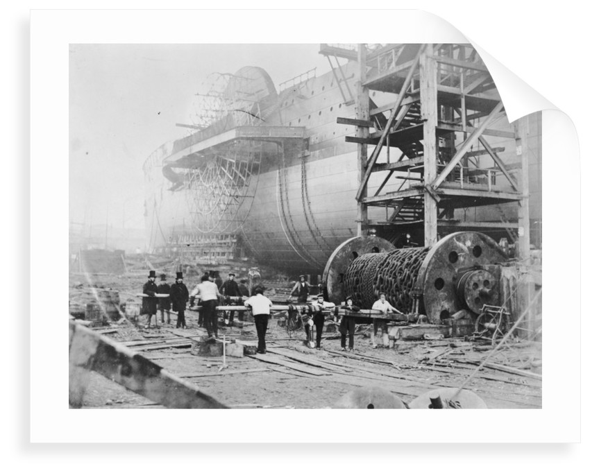 View of Brunel's 'Great Eastern' prior to her 1858 launch by Robert Howlett