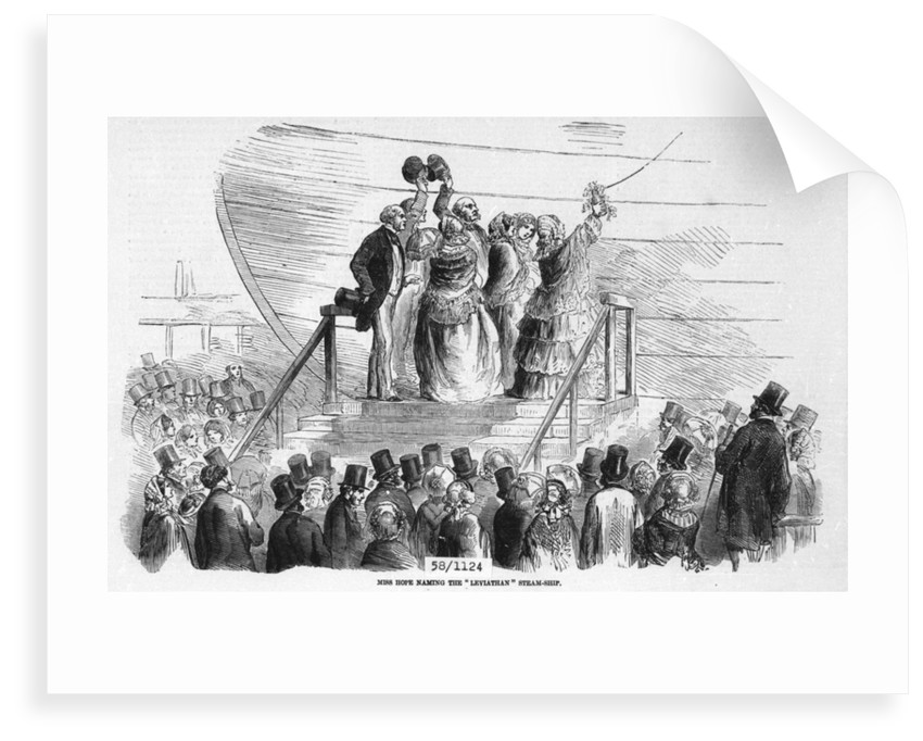 Miss Hope naming the 'Leviathan (or 'Great Eastern') by unknown