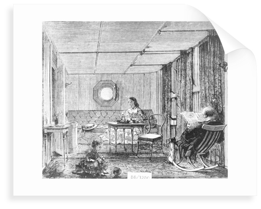 Family saloon on board the 'Great Eastern' (1858) by unknown