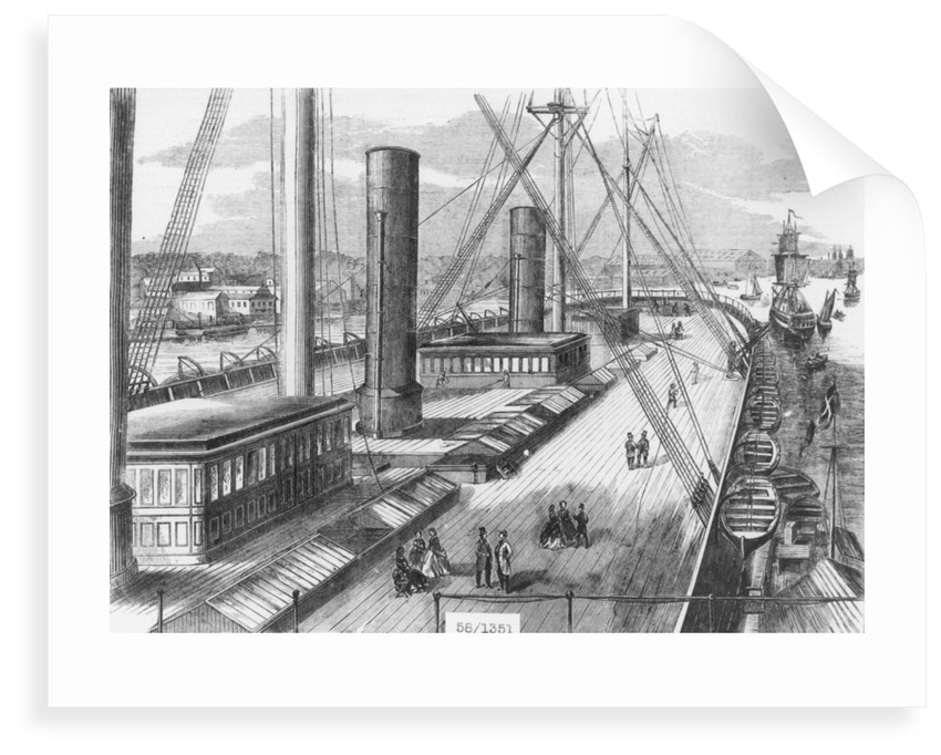 View of Brunel's 'Great Eastern' (1858) from one of the paddle boxes looking astern by unknown