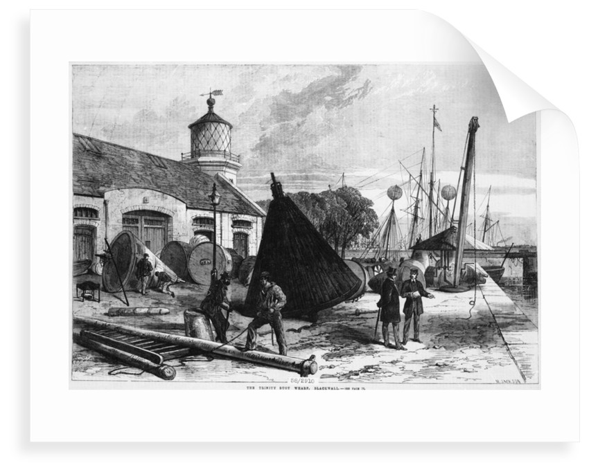Trinity Buoy Wharf, 1868 by Illustrated London News