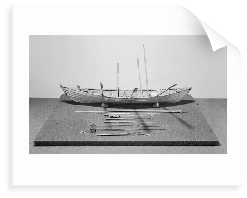 Six-oared American whaleboat, starboard broadside by unknown