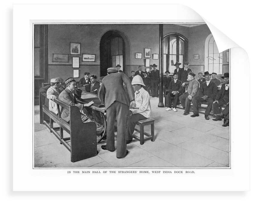 In the main hall of the Strangers' Home, West India Dock Road by unknown