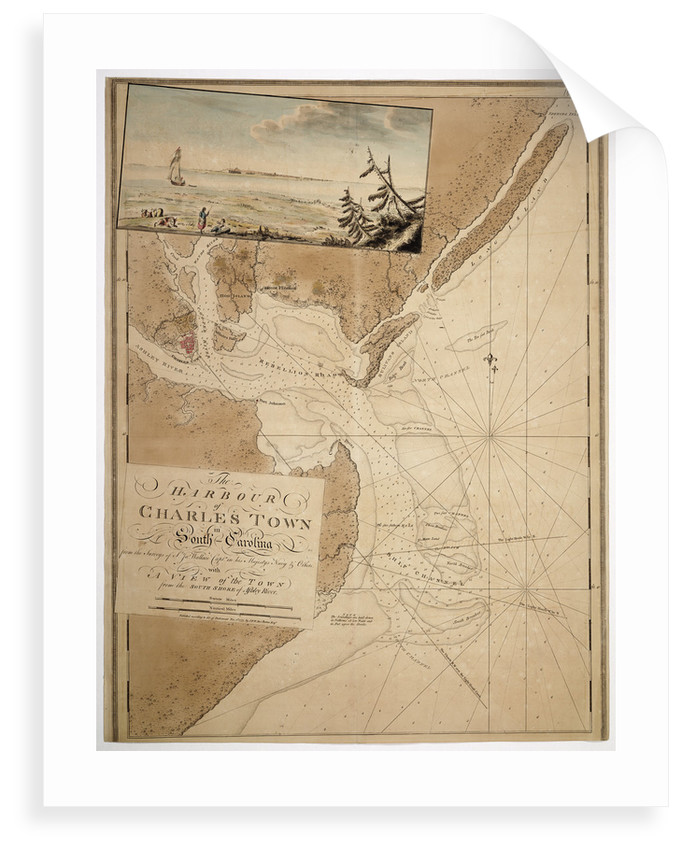 Map of Charles Town in South Carolina, 1777 by unknown