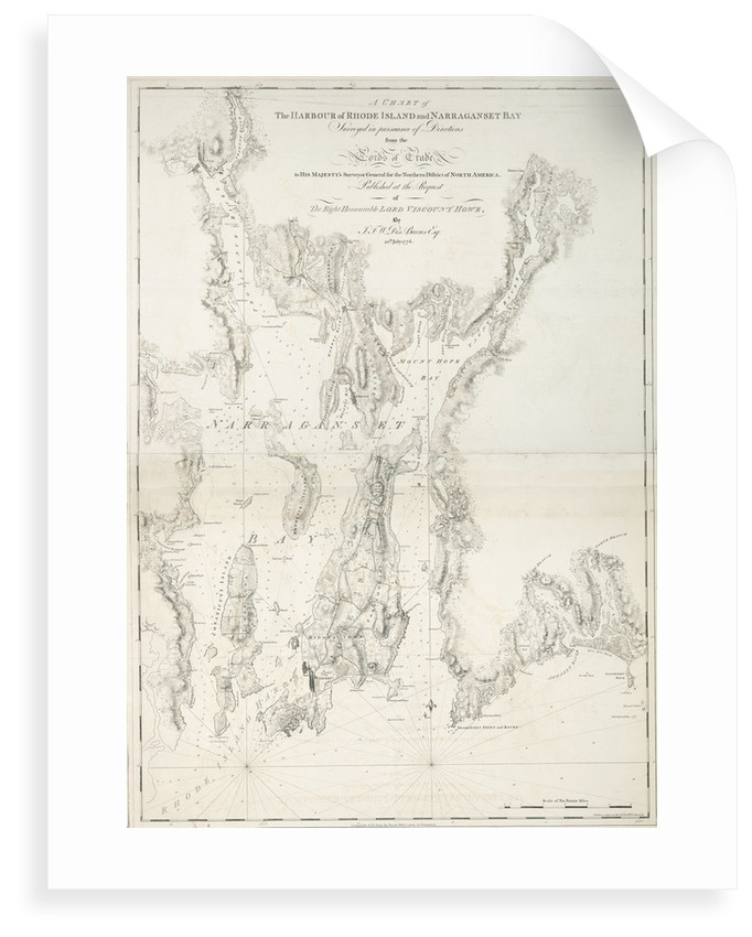 A chart of the harbour of Rhode Island and Narraganset Bay by J.F.W. Des Barres
