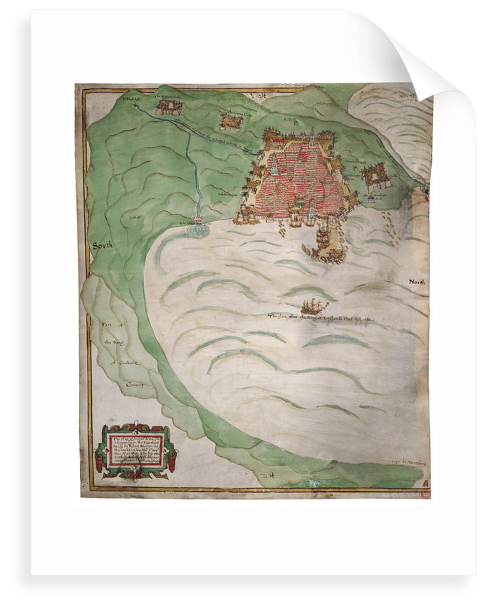 Chart of Algiers Bay, 1620 by Robert Norton