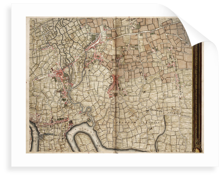 Map of Bow, Stratford, Blackwall and Plaistow by John Rocque
