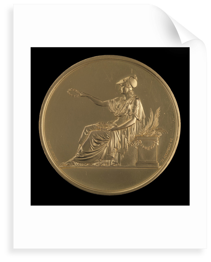 Large Gold medal, , 1827 by Andrieu