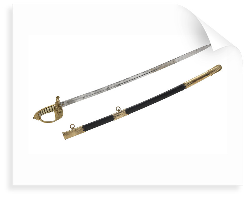 Solid half-basket hilted sword, which belonged to Vice-Admiral McClure (1807-1873) by Gillott & Hasell