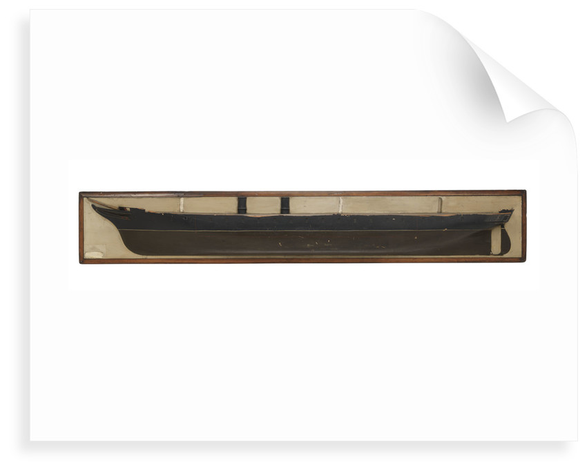 Half block design model of HMS 'Warrior' (1860), scale 1:48 by unknown