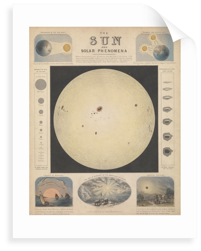 The sun and solar phenomena by James Reynolds