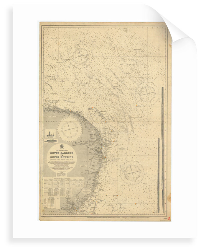 England East Coast: Outer Gabbard to Outer Dowsing by British Admiralty