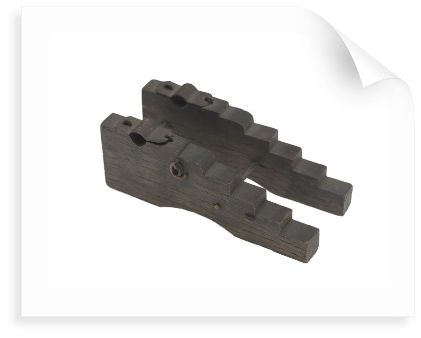 Ordnance model; Gun carriage model by unknown