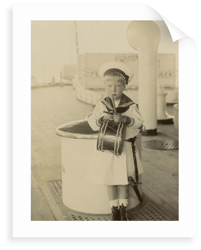 Edward VIII as a child, aboard HMS 'Crescent', June-August 1898 by unknown