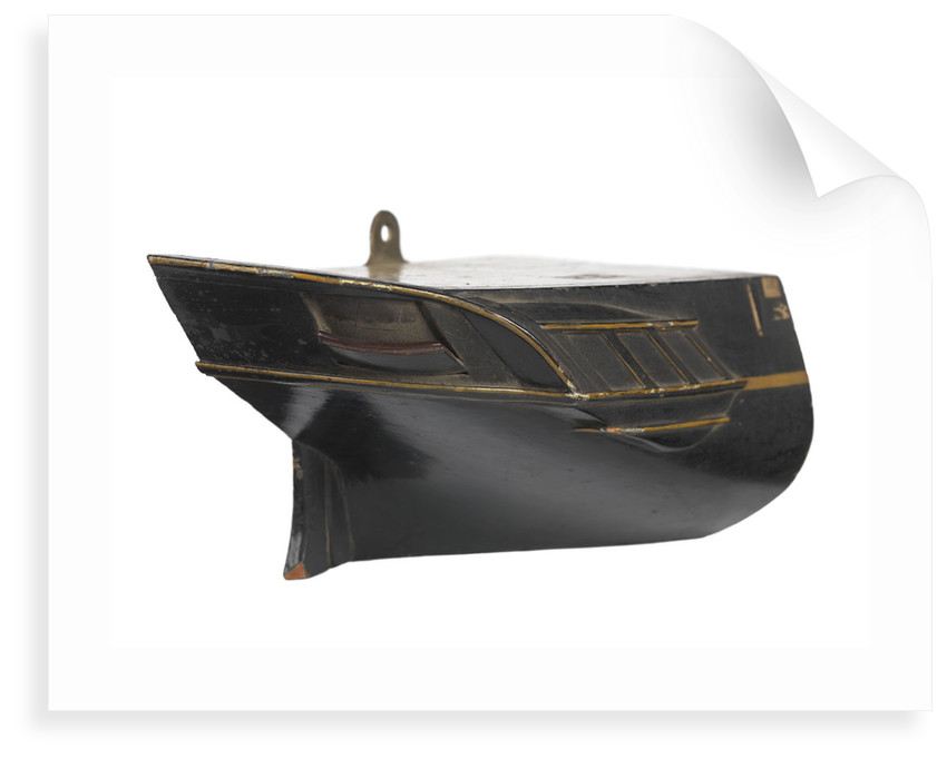 Stern model; Sectional model; Waterline model; Half hull model by unknown