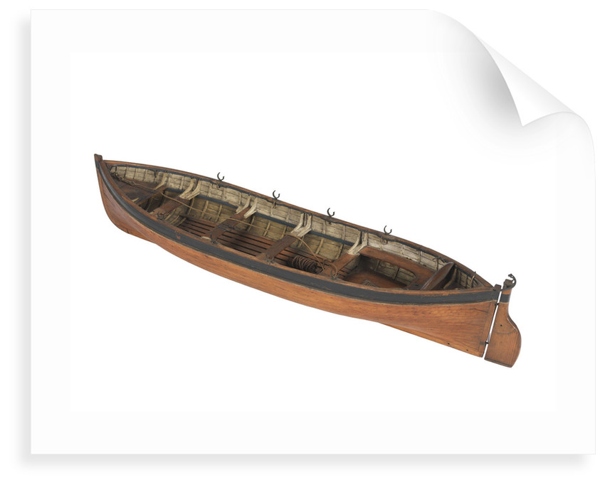 Full hull model; Plank-on-frame by unknown