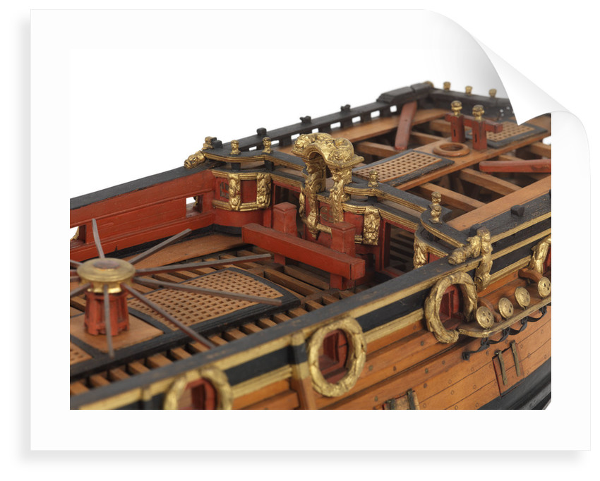 Contemporary full hull model of the 'Mordaunt' by unknown
