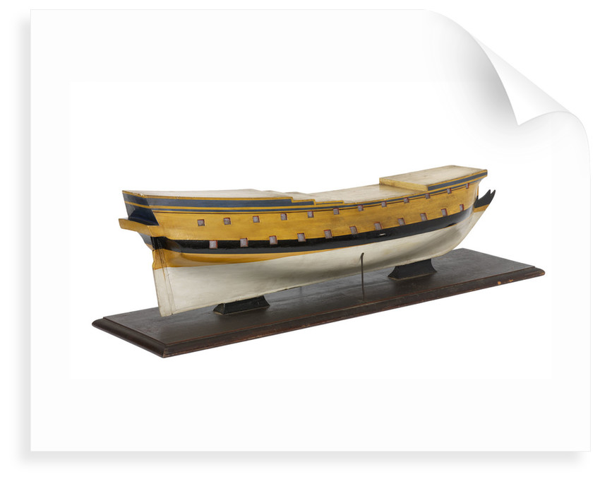Model of the vessel 'Triton' (1697), warship, French, 42 guns by unknown