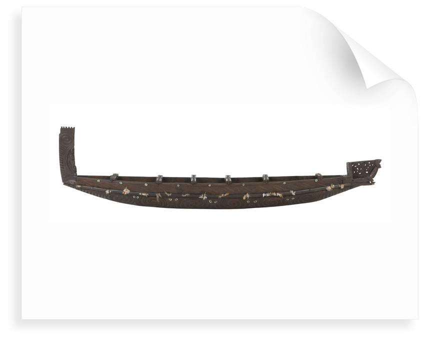 Maori war canoe by unknown